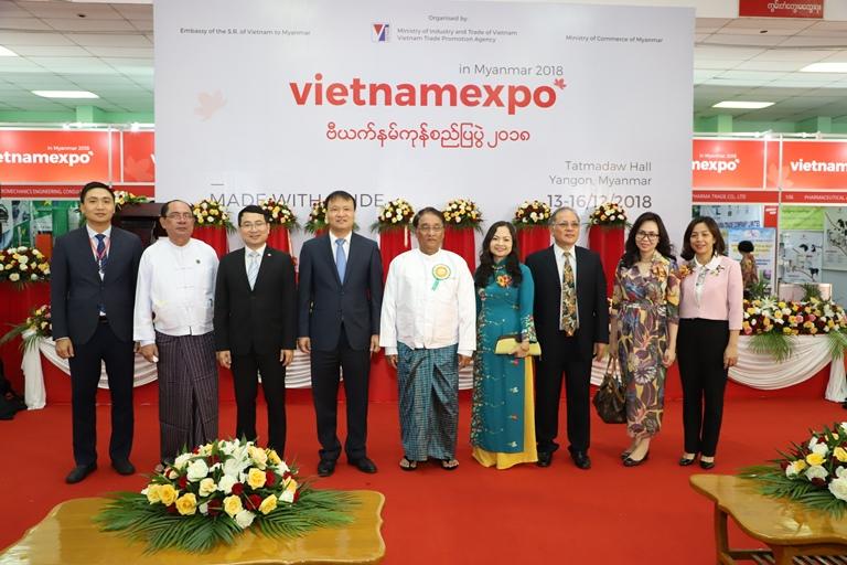 Vietnam Expo 2018 opened in Yangon, Myanmar