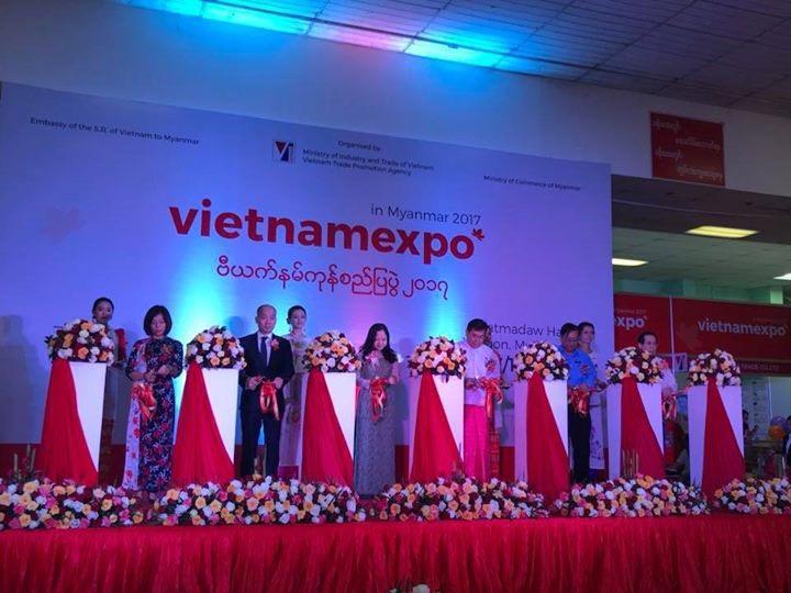 Vietnam Expo 2017 opened in Yangon, Myanmar